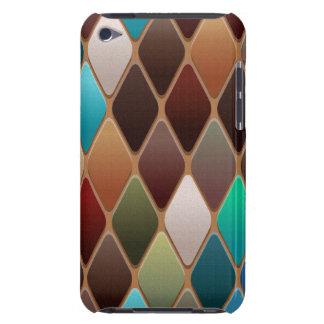 Capa Para iPod Touch Mosaico do diamante da cerceta