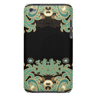 Capa Para iPod Touch nouveau da arte, vintage, floral, époque do belle,