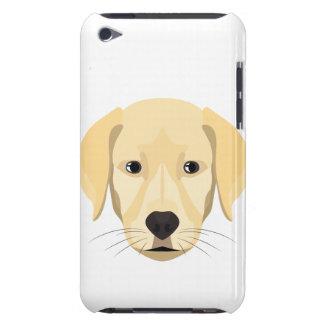 Capa Para iPod Touch Ouro Retriver do filhote de cachorro da ilustração