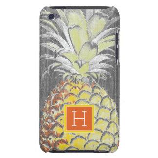 Capa Para iPod Touch Pinneapple amarelo tropical no cinza