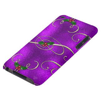 Capa Para iPod Touch Redemoinhos românticos do Natal do Lilac
