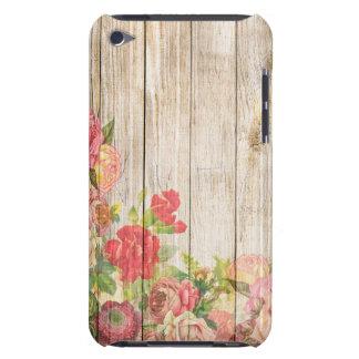 Capa Para iPod Touch Rosas românticos rústicos do vintage de madeira