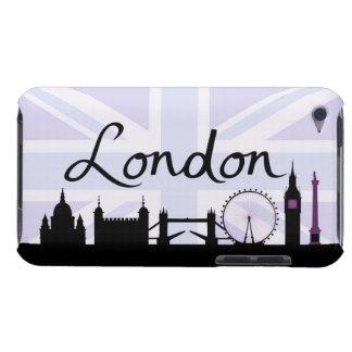 Capa Para iPod Touch Roteiro de Londres no céu de Union Jack & locais