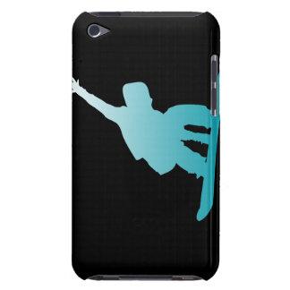Capa Para iPod Touch snowboarder do azul do inclinação