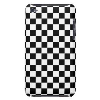 Capa Para iPod Touch Tabuleiro de damas preto e branco