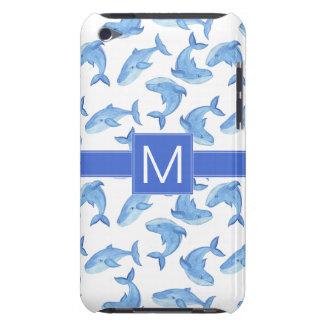 Capa Para iPod Touch Teste padrão da baleia azul da aguarela