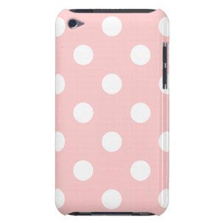 Capa Para iPod Touch Teste padrão de bolinhas cor-de-rosa e branco