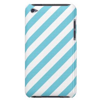 Capa Para iPod Touch Teste padrão diagonal azul e branco das listras