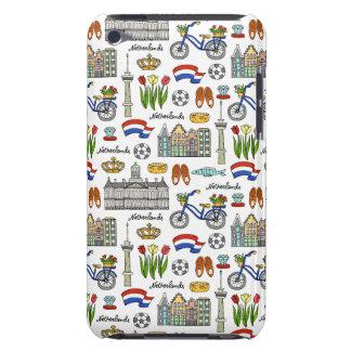 Capa Para iPod Touch Teste padrão do Doodle de Netherland