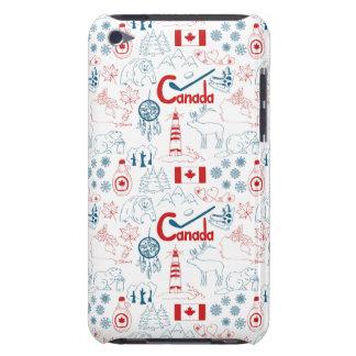 Capa Para iPod Touch Teste padrão dos símbolos de Canadá |