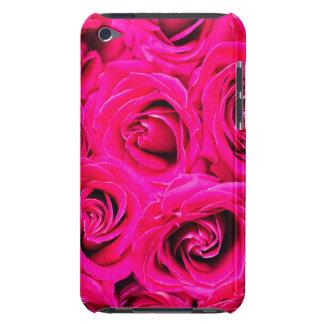 Capa Para iPod Touch Teste padrão roxo cor-de-rosa romântico dos rosas