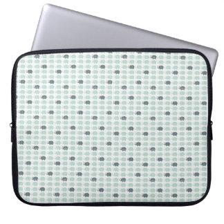 """Capa Para Laptop A bolsa de laptop azul 15"""" dos elefants do teste"""