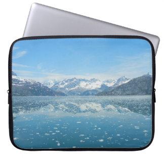 Capa Para Laptop A bolsa de laptop azul da reflexão