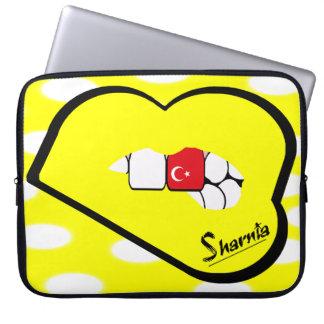 Capa Para Laptop A bolsa de laptop de Turquia dos lábios de Sharnia