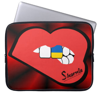 Capa Para Laptop A bolsa de laptop de Ucrânia dos lábios de Sharnia