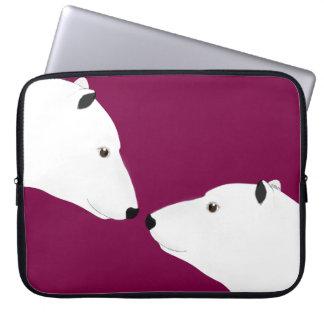 Capa Para Laptop A bolsa de laptop dos ursos polares