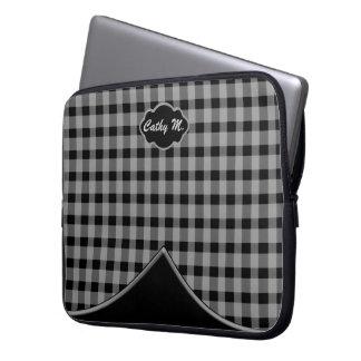 Capa Para Laptop A bolsa de laptop feita sob encomenda do cinza do