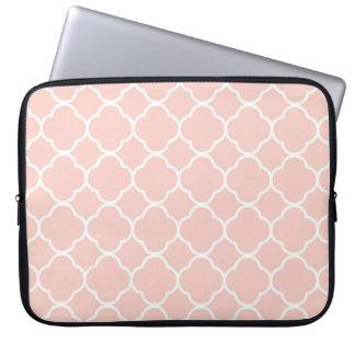 Capa Para Laptop A bolsa de laptop marroquina cor-de-rosa do