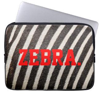 "Capa Para Laptop A bolsa de laptop modelada ZEBRA 13"" (ZebraSkin)"
