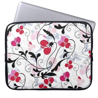 Capa Para Laptop A bolsa de laptop moderna do design floral -