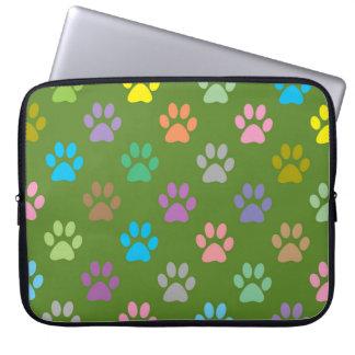 Capa Para Laptop A pata colorida imprime o teste padrão