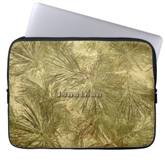 Capa Para Laptop Agulhas verdes abstratas sua camuflagem conhecida
