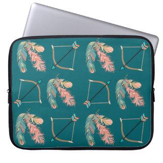 Capa Para Laptop Arco e seta da pena do estilo de Boho