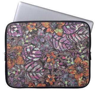 Capa Para Laptop Arte digital romântica do teste padrão floral das