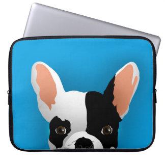 Capa Para Laptop Arte do buldogue - buldogue francês