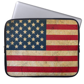 Capa Para Laptop Bandeira americana EUA do vintage do Grunge