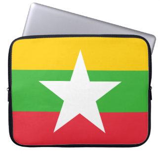 Capa Para Laptop Bandeira de Myanmar