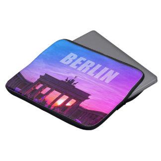 Capa Para Laptop BERLIM, por do sol na porta de Brandemburgo