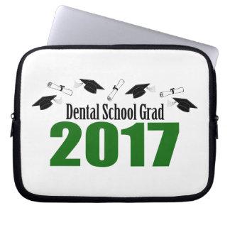 Capa Para Laptop Bonés do formando 2017 da escola dental e diplomas