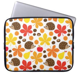Capa Para Laptop Castanhas & teste padrão sem emenda do ouriço