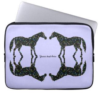 Capa Para Laptop Cavalos do azul das reflexões