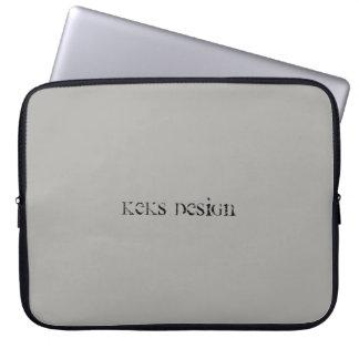"""Capa Para Laptop Cinza simples 15"""" do design de Keks a bolsa de"""