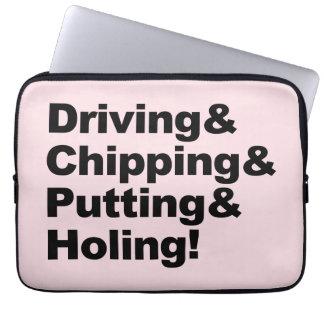 Capa Para Laptop Driving&Chipping&Putting&Holing (preto)