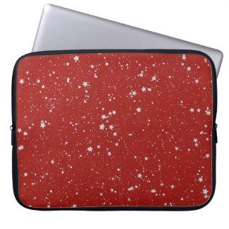 Capa Para Laptop Estrelas do brilho - vermelho de prata