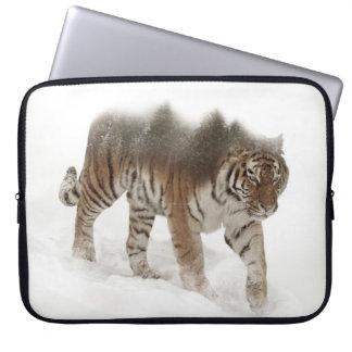 Capa Para Laptop Exposição-animais selvagens tigre-Tigre-dobro