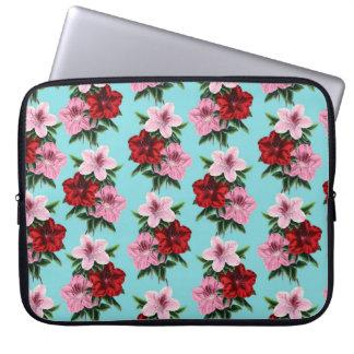 Capa Para Laptop flores rosas vermelha na luz da cerceta