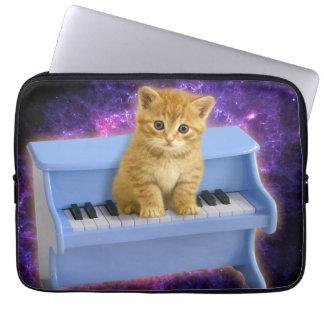 Capa Para Laptop Gato do piano