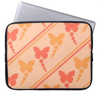 Capa Para Laptop Impressão alaranjado cor-de-rosa das listras dos