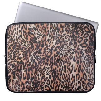 Capa Para Laptop Impressão da pele do leopardo