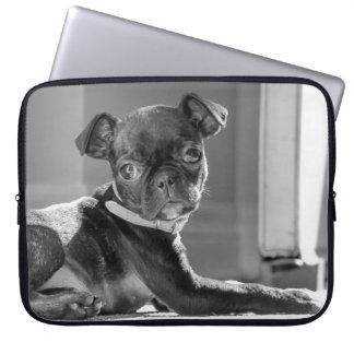 Capa Para Laptop Impressão preto e branco da arte de Bullie do Pug