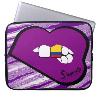 Capa Para Laptop Lábios do roxo da bolsa de laptop de Colômbia dos