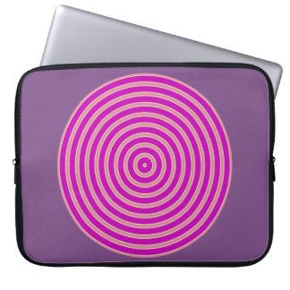 Capa Para Laptop luz roxa - linha amarela a bolsa de laptop do