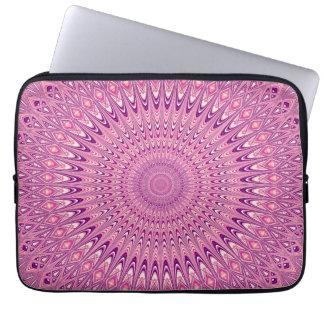 Capa Para Laptop Mandala cor-de-rosa da estrela