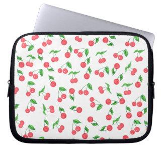 Capa Para Laptop mão bonito teste padrão tirado da cereja da