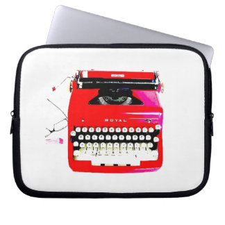 Capa Para Laptop máquina de escrever do journalista do escritor do
