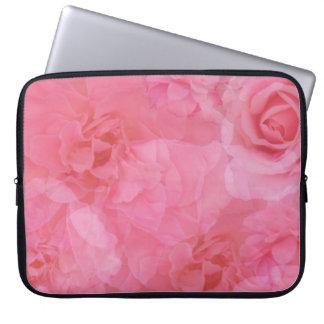 Capa Para Laptop O jardim cor-de-rosa macio glamoroso do vintage